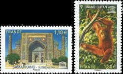 Frankrig - Unesco 2017 - Postfrisk sæt 2v