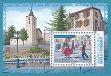 Fransk Andorra - Dans - Postfrisk miniark