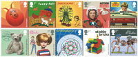 Great Britain - Classic Toys - Mint stamp 10v