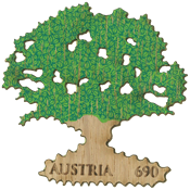 Austria - Oak tree - Mint souvenir sheet in oak tree shape