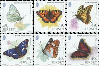 Jersey - Papillons - Amitié avec la Chine - Série neuve 6v