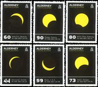 Alderney - Solformørkelsen - Postfrisk sæt 6v varmefølsomt tryk