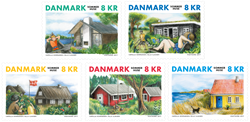 Danmark - Sommerhuse - Postfrisk sæt 5v