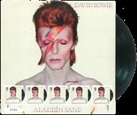 England - David Bowie *Aladdin Sane* pladecover - Postfrisk ark - totalt udsolgt på udgivelsesdagen