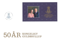 Denmark - Royal golden annv. S/S FDC - First Day Cover