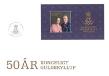 Danmark - Kongeligt guldbryllup M/S FDC - Førstedagskuvert