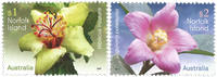 Norfolk Islands - Flowers - Mint set 2v