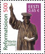 Estland - 500-året for reformationen - Postfrisk frimærke