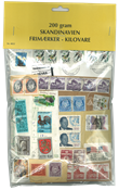 Scandinavie - Timbres au kilo - 200 gr.