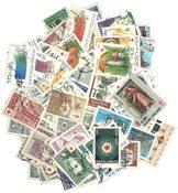 Finlande - 100 timbres diff., tous avec surcharge
