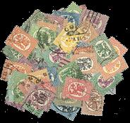 Finland - 70 forsk. Saarinen-frimærker 1917