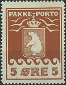Grønland - Pakkeporto - 1915