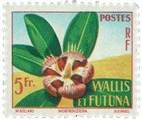 Wallis 159 * 5fr polycrome s. Flore. Fleur. 1958