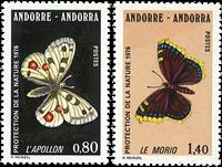 Fransk Andorra -  YT 258-59