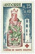 Andorra fransk YT 172 Fransk Andorra 1964, Røde Kors
