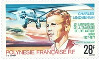 Pol. fr. 1977 YT PA125 50 anniv. Charles Lindbergh