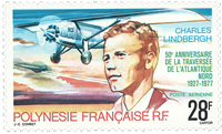 Polynésie francaise 1977 YT PA125 50 anniversaire Charles Lindbergh