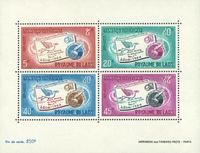 Laos BF37 * 1966 Semaine int. de la lettre écrite