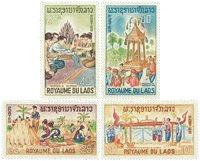 Laos 134-37 - neuf - 1966 Folklore