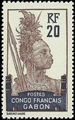 Gabon - YT 38 postfrisk