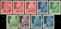 YT 175-83 (-179A,179B) Algerie 1942-45, Byvåben