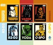 Espagne - Star Wars - Bloc-feuillet neuf