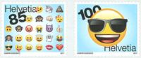 Schweiz - Emoji - Postfrisk sæt 2v