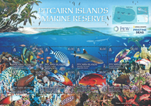 Pitcairn Øerne - Havbeskyttelse og tropiske fisk - Postfrisk sæt 8v