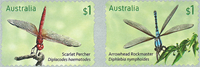 Australia - Dragonflies - Mint adh. set