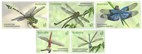 Australia - Dragonflies - Mint set 5v