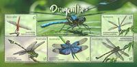 Australia - Dragonflies - Mint souvenir sheet