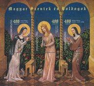 Hungary - 3 saints - Mint souvenir sheet