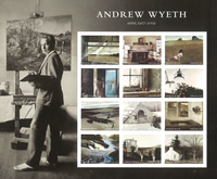 USA - Andrew Wyeth - Postfrisk ark