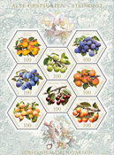 Liechtenstein - Blommer og andre stenfrugter - Postfrisk ark 8v