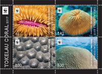 Tokelau - Corals - Mint souvenir sheet