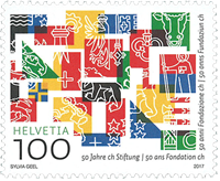Switzerland - 50 years of foundation - Mint stamp