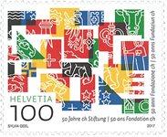 Suisse - Cinquantenaire de la fondation - Timbre neuf