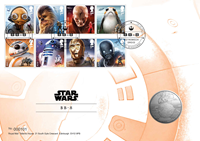 Engeland - Star Wars BB-8 - Muntbrief