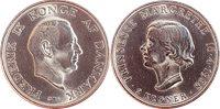 Danmark 1958 - Prinsesse Margrethe 18 år - 2 kr. -  Sølv