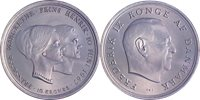 Danmark 1967 - Prinsesse Margrethes bryllup med Prins Henrik - 10 kr. sølvmønt