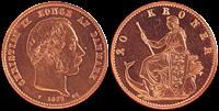Kong Christian IX 1873-1900 - 20 kr. - Guldmønt