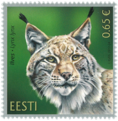 Estonia - Lynx - Mint stamp