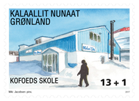 Grønland - Kofoeds skole - Postfrisk velgørenhedsfrimærke
