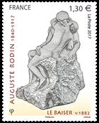 Frankrig - Auguste Rodin - Postfrisk frimærke