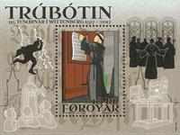 Faroe Islands - Reformation - Mint souvenir sheet