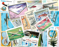 Air planes - Stamp packet - 100 diff.