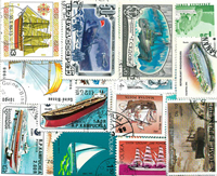 Bâteaux - Paquet de timbres - 100 diff.
