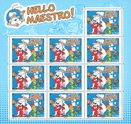 Frankrig - Hello Maestro - Postfrisk 10-ark