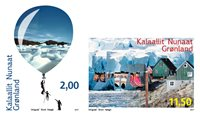 Grønland - Miljø i Grønland - Postfrisk sæt 2v