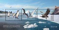 Grønland - Fællesudgave med Fransk Antarktis - Postfrisk miniark
